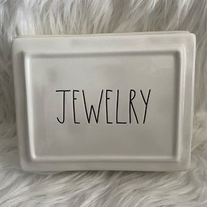 Rae Dunn 3 compartment jewelry box